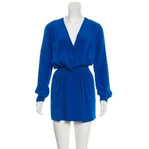 CHLOÉ Blue Silk Mini Dress Size S/M